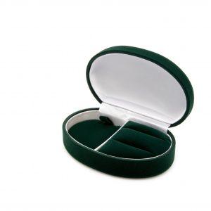 Etui flokowane na kolekcje biżuterii